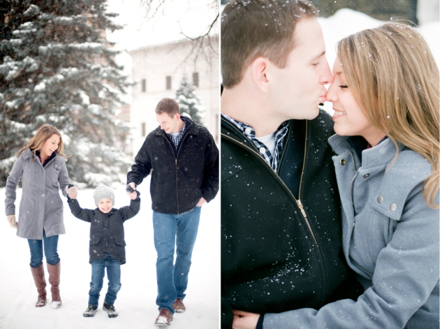Amanda Nippoldt Photography, Midwest Wedding Photographer, Fine Art Film Photographer, Minnesota Photographer, Rice Park Engagement Session, St. Paul Engagement session, Winter engagement session