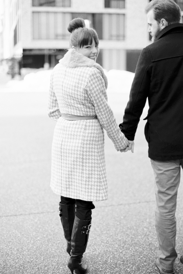Amanda Nippoldt Photography, Midwest Wedding Photographer, Fine Art Film Photographer, Minnesota Photographer, Rice Park Engagement Session, St. Paul Engagement session, Winter engagement session, Film Photographer, Downtown Minneapolis Engagement Session, Guthrie Engagements
